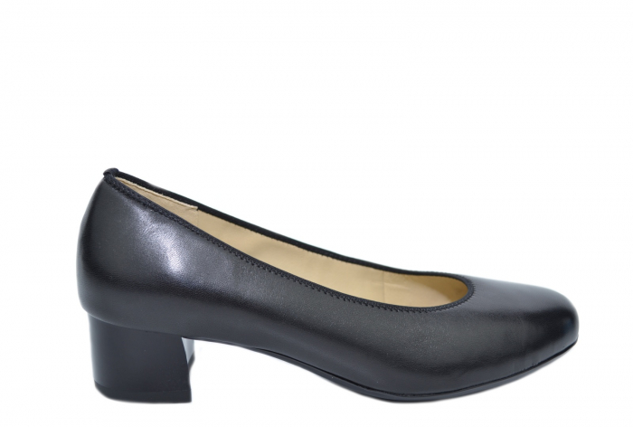 Pantofi cu toc Piele Naturala Negri Ara Smaranda D02076 0