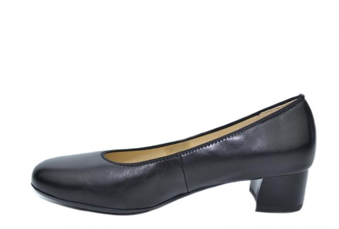 Pantofi cu toc Piele Naturala Negri Ara Smaranda D02076 1