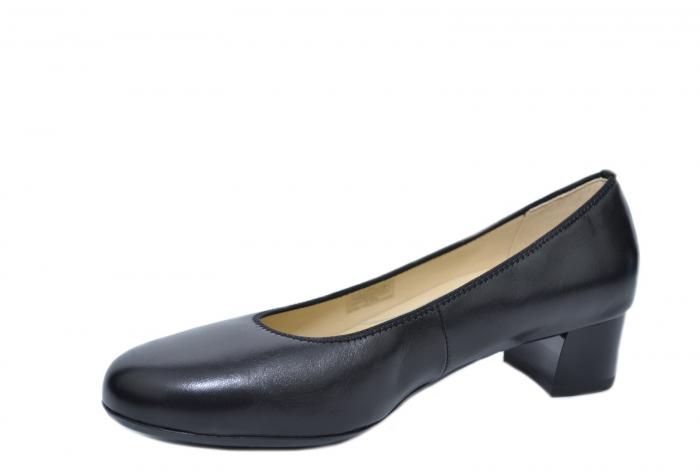 Pantofi cu toc Piele Naturala Negri Ara Smaranda D02076 2