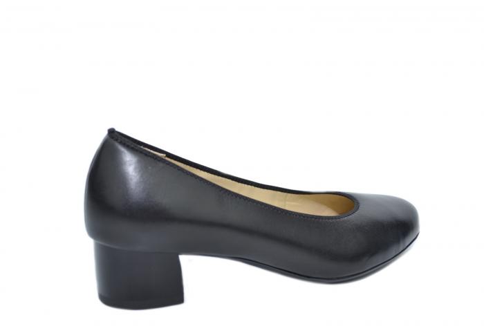 Pantofi cu toc Piele Naturala Negri Ara Smaranda D02076 3