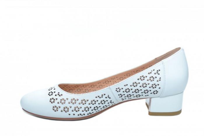 Pantofi cu toc Piele Naturala Albi Epica Tamara D01864 1
