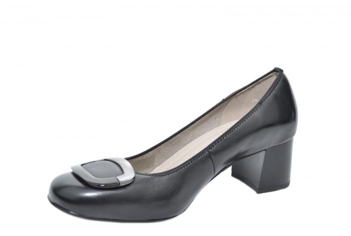Pantofi cu toc Piele Naturala Negri Ara Tania D02077 2