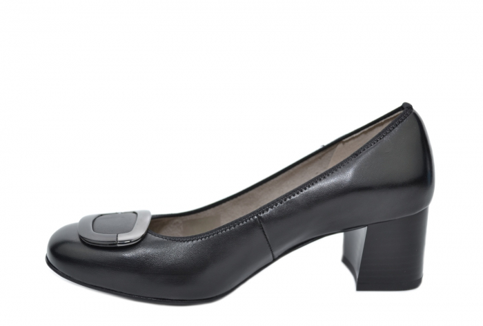 Pantofi cu toc Piele Naturala Negri Ara Tania D02077 3
