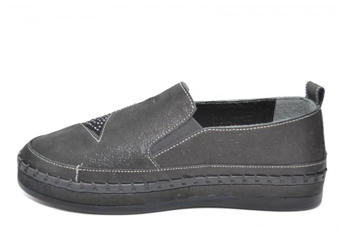 Pantofi Casual Piele Naturala Negri Tereza D02081 [1]