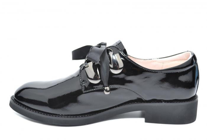 Pantofi Oxford Piele Naturala Neagra Tess D02078 0