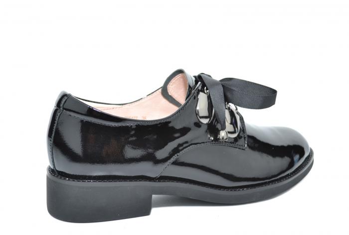 Pantofi Oxford Piele Naturala Neagra Tess D02078 3
