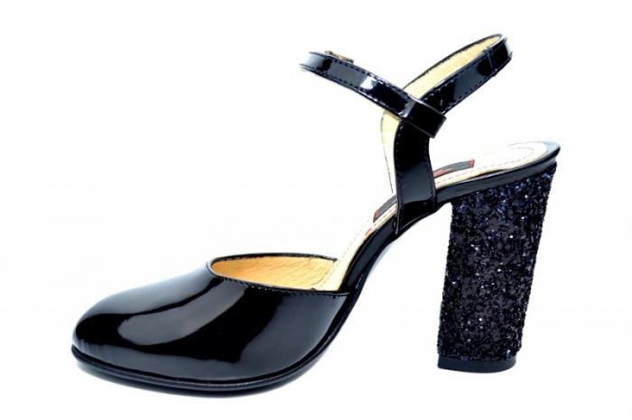 Pantofi Dama Piele Naturala Negri Thais D01829 1