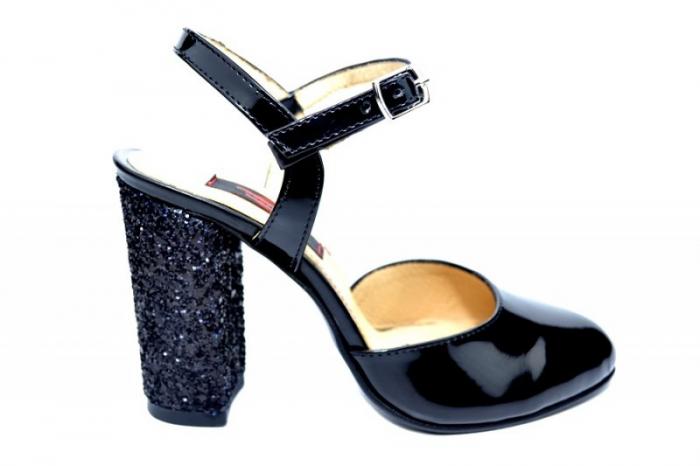 Pantofi Dama Piele Naturala Negri Thais D01829 0