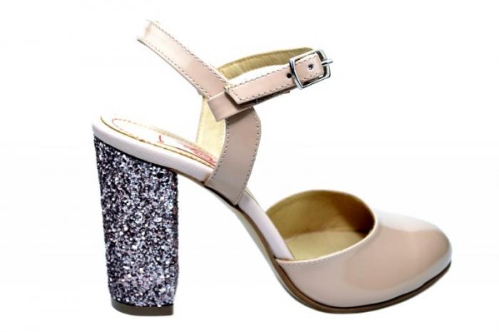 Pantofi Dama Piele Naturala Nude Thais D01838 [0]