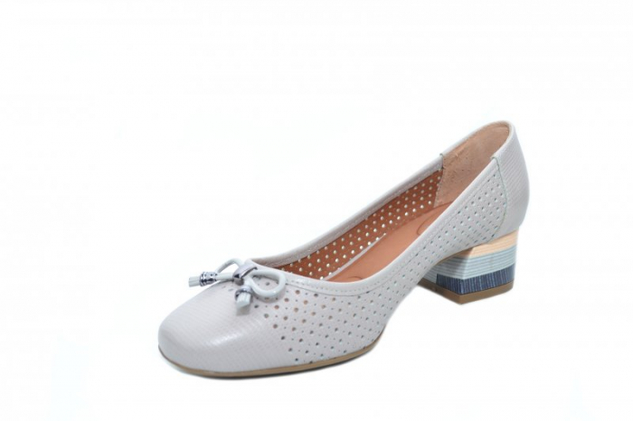 Pantofi cu toc Piele Naturala Gri Epica Thaisa D01863 2