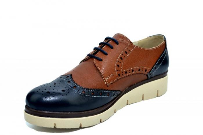 Pantofi Casual Piele Naturala Maro Valentina D01271 2