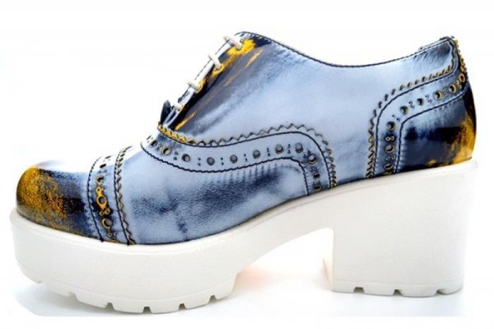 Pantofi Casual Piele Naturala Prego Vega D01126 1
