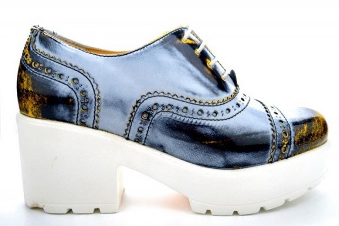 Pantofi Casual Piele Naturala Prego Vega D01126 0
