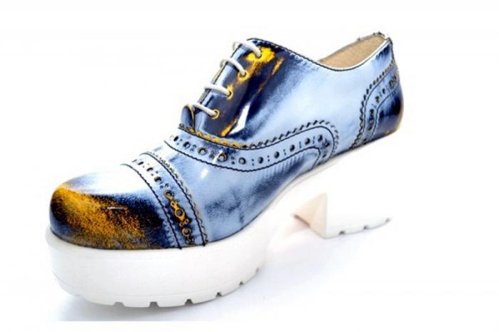 Pantofi Casual Piele Naturala Prego Vega D01126 3