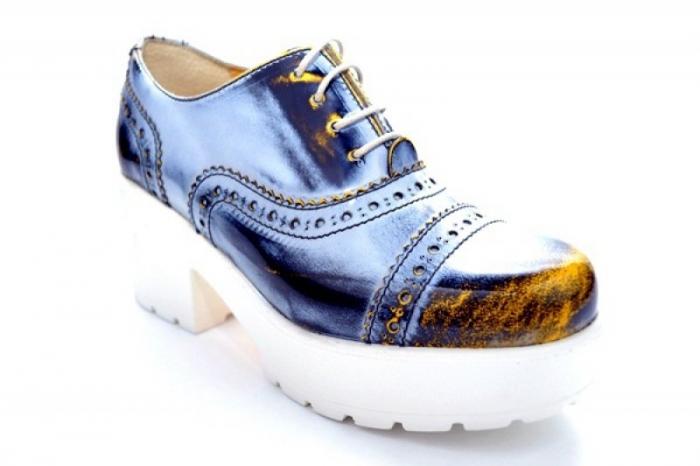 Pantofi Casual Piele Naturala Prego Vega D01126 4