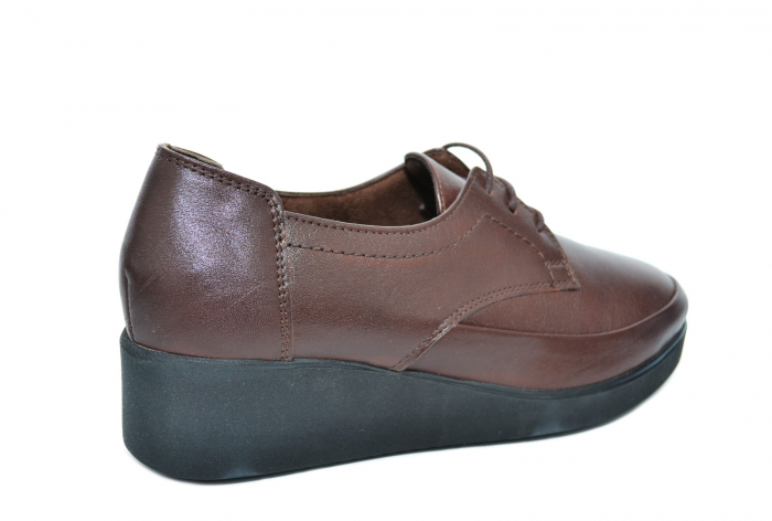 Pantofi Casual Piele Naturala Maro Vera D02090 3