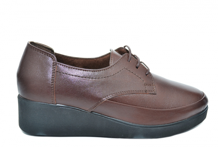 Pantofi Casual Piele Naturala Maro Vera D02090 0