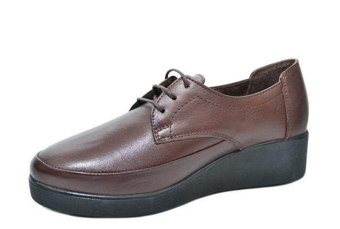 Pantofi Casual Piele Naturala Maro Vera D02090 2