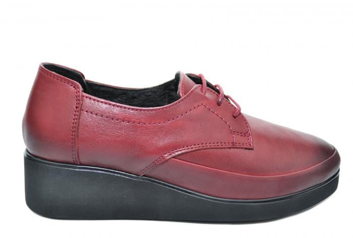 Pantofi Casual Piele Naturala Grena Vera D02092 0