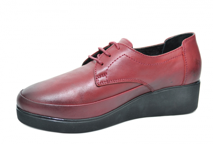 Pantofi Casual Piele Naturala Grena Vera D02092 1