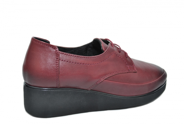 Pantofi Casual Piele Naturala Grena Vera D02092 2