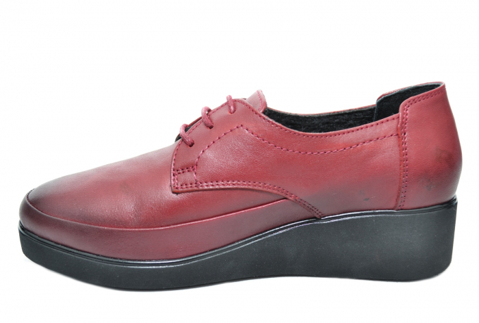 Pantofi Casual Piele Naturala Grena Vera D02092 3