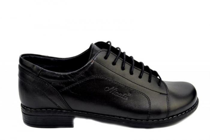 Pantofi Casual Piele Naturala Negri Victoria D01279 0