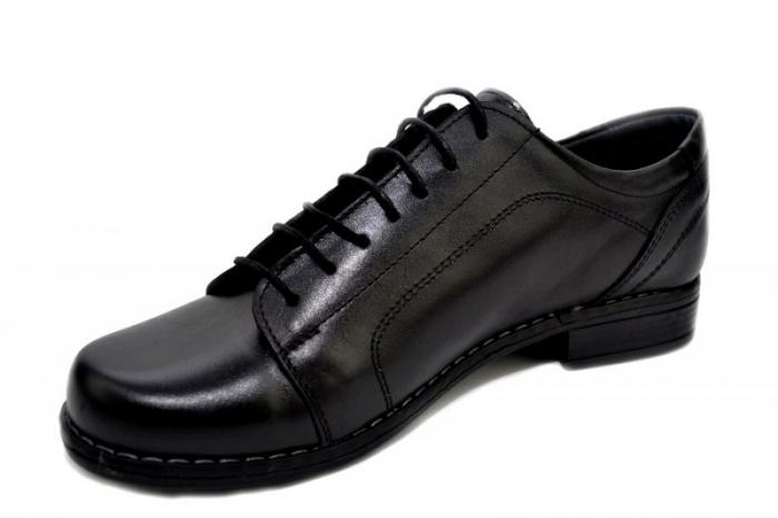 Pantofi Casual Piele Naturala Negri Victoria D01279 2