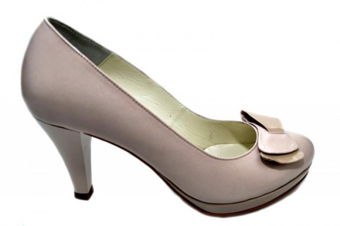 Pantofi cu toc Piele Naturala Nude Yolanda D01333 0