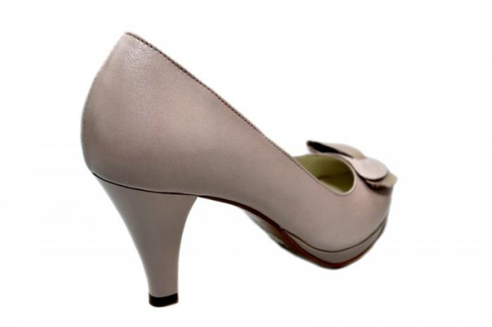 Pantofi cu toc Piele Naturala Nude Yolanda D01333 3