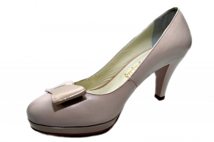 Pantofi cu toc Piele Naturala Nude Yolanda D01333 2