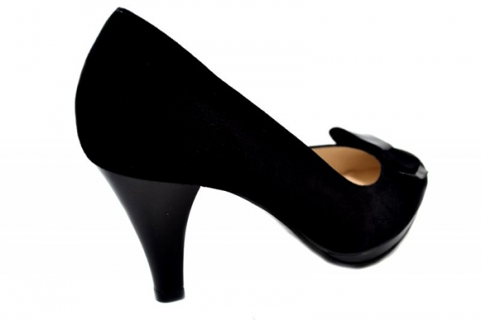 Pantofi cu toc Piele Naturala Negri Yolanda D01334 3
