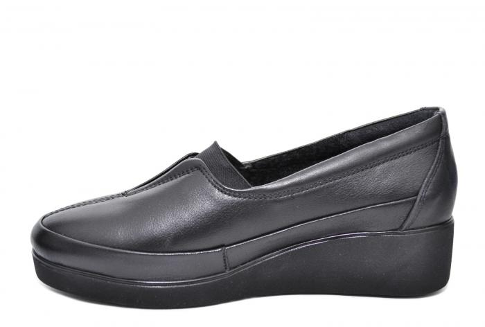 Pantofi Casual Piele Naturala Neagra Zamora D02087 0