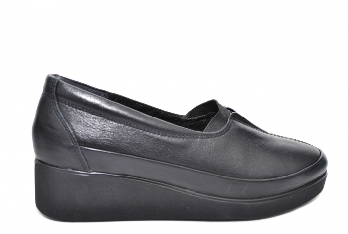 Pantofi Casual Piele Naturala Neagra Zamora D02087 1