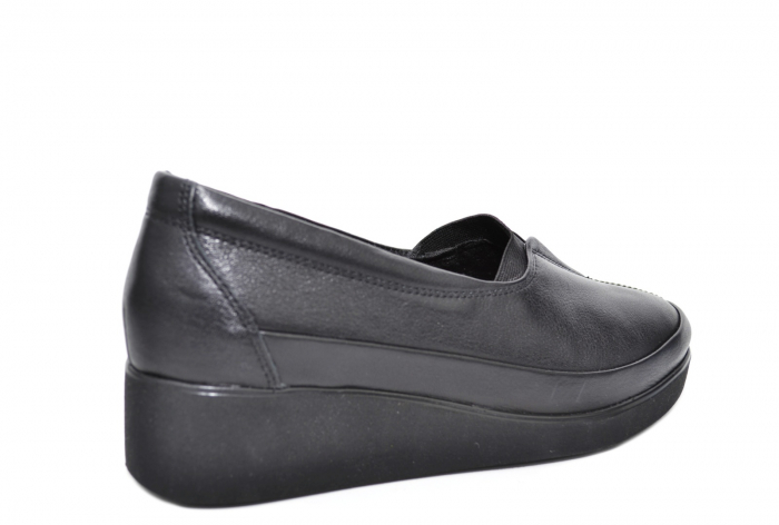 Pantofi Casual Piele Naturala Neagra Zamora D02087 3