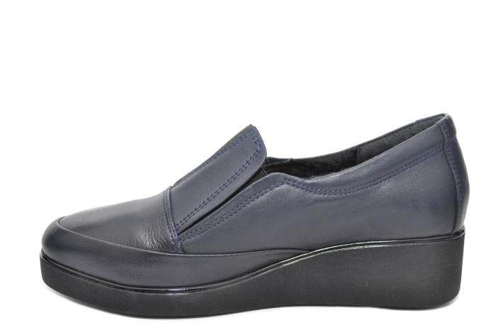 Pantofi Casual Piele Naturala Bleumarin Zina D02088 1