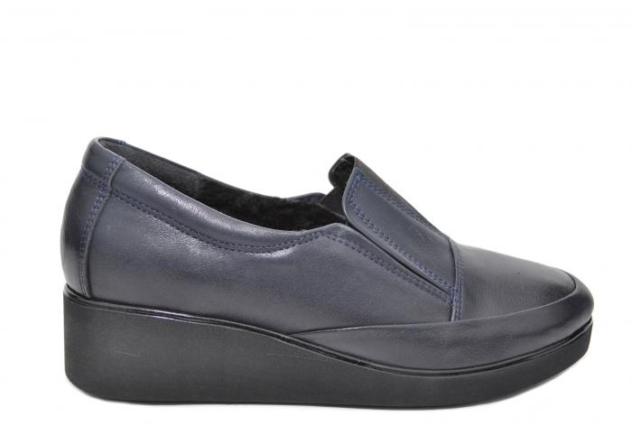 Pantofi Casual Piele Naturala Bleumarin Zina D02088 0