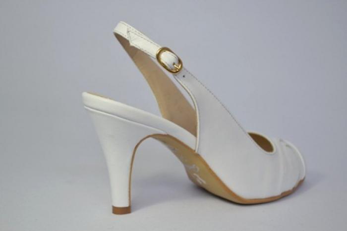 Pantofi-Sanda Piele Naturala Guban Albi Rona 5