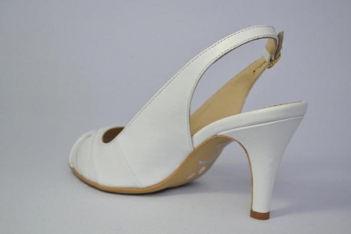 Pantofi-Sanda Piele Naturala Guban Albi Rona 4
