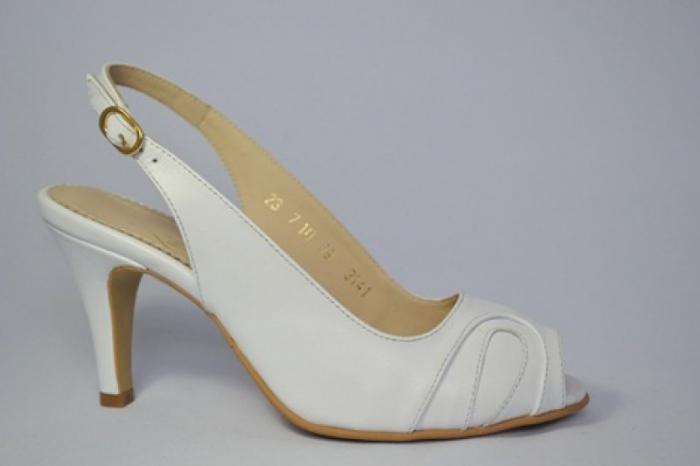 Pantofi-Sanda Piele Naturala Guban Albi Rona 0
