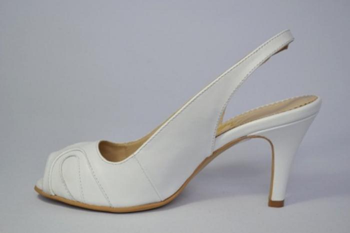 Pantofi-Sanda Piele Naturala Guban Albi Rona 1