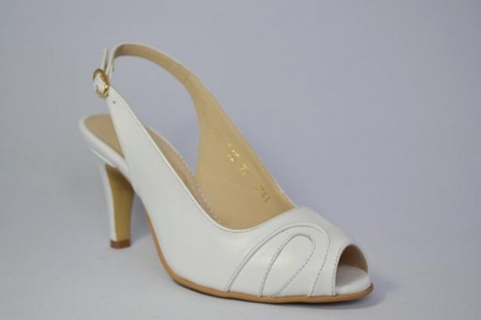 Pantofi-Sanda Piele Naturala Guban Albi Rona 3