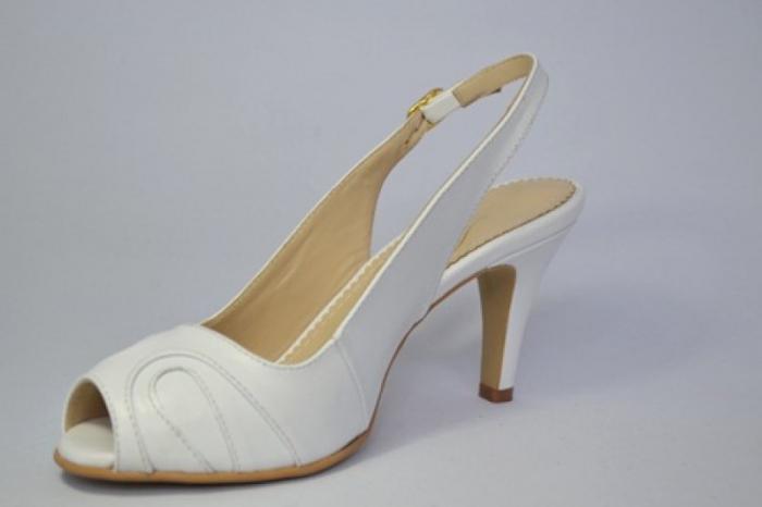 Pantofi-Sanda Piele Naturala Guban Albi Rona 2