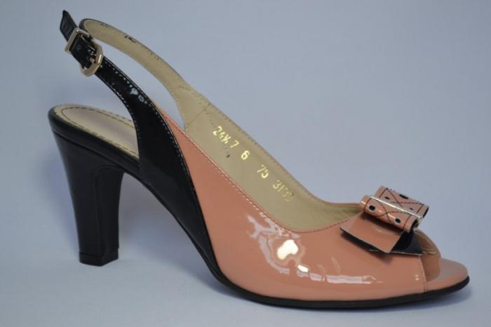 Pantofi-Sanda Piele Naturala Guban Bej Rola 3