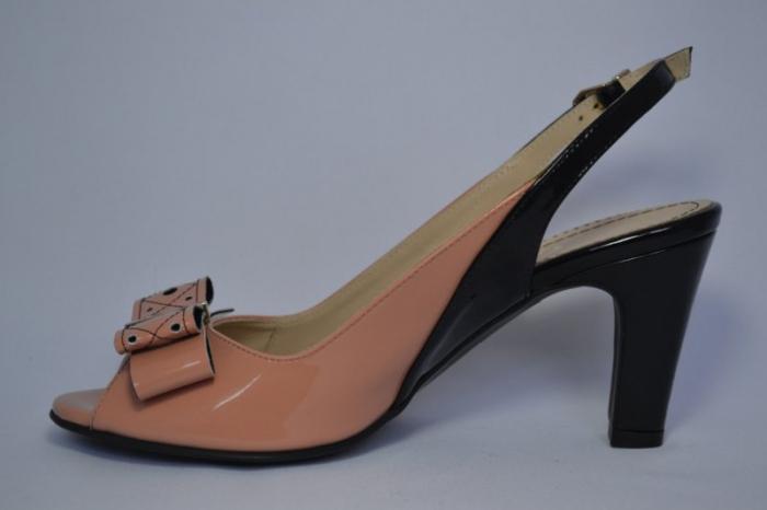 Pantofi-Sanda Piele Naturala Guban Bej Rola 1