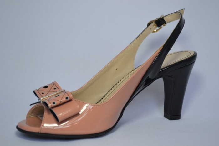 Pantofi-Sanda Piele Naturala Guban Bej Rola 2