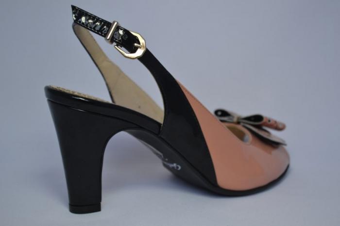 Pantofi-Sanda Piele Naturala Guban Bej Rola 4