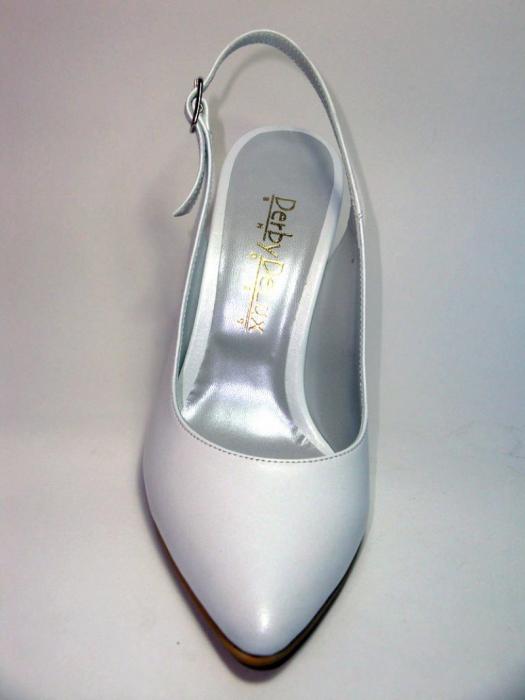 Pantofi Dama Piele Naturala Albi Reli D00340 6