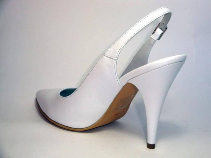 Pantofi Dama Piele Naturala Albi Reli D00340 4