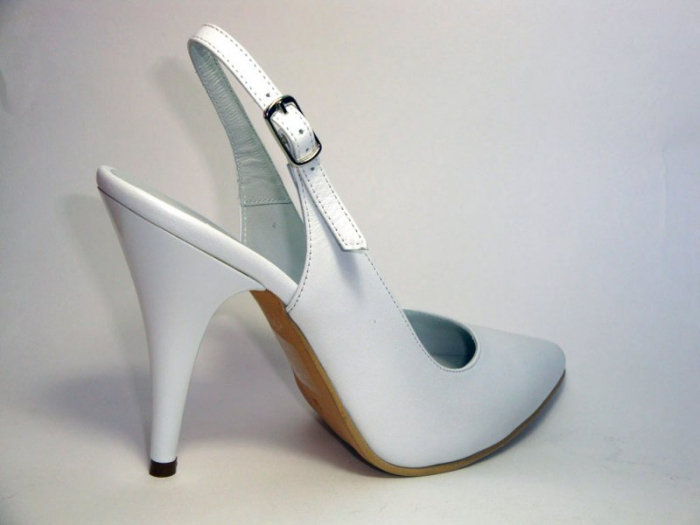 Pantofi Dama Piele Naturala Albi Reli D00340 [5]